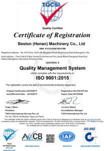 Beston-ISO9001