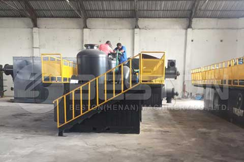 Beston BLL-20 Pyrolysis Plant Installed in South Africa - Beston