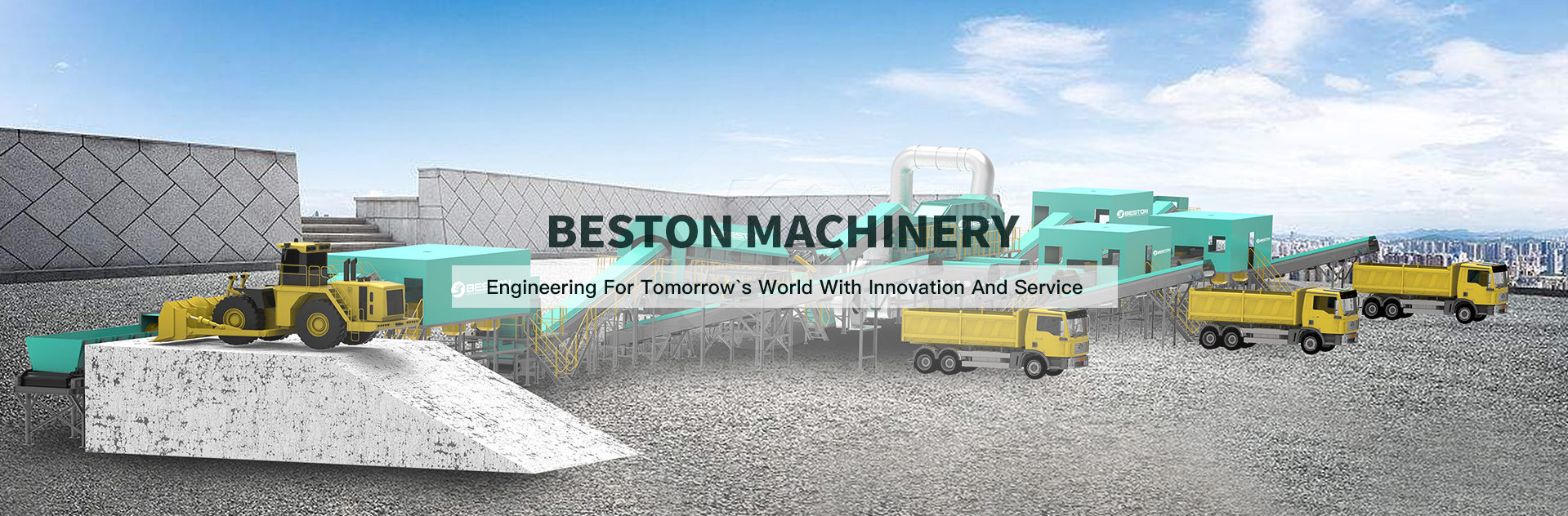 waste sorting machine banner