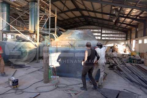Tire Pyrolysis Plant in Jordan