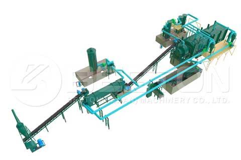 Biomass Carbonizing Plant with Briquette Machine