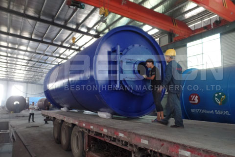 Quick Shipment of Beston Tyre Pyrolysis Plant