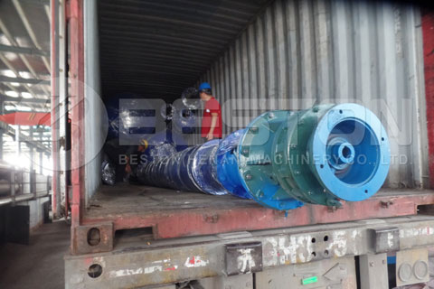 Transportatioin of Tyre Pyrolysis Machine