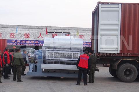 Move Beston Egg Tray Machine to Truck