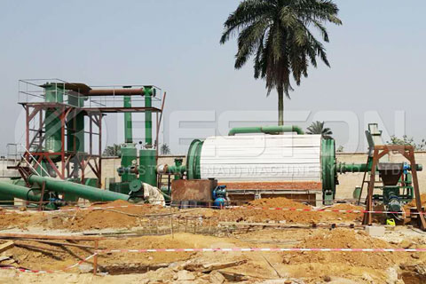 Waste Pyrolysis Machine Installed in Negeria
