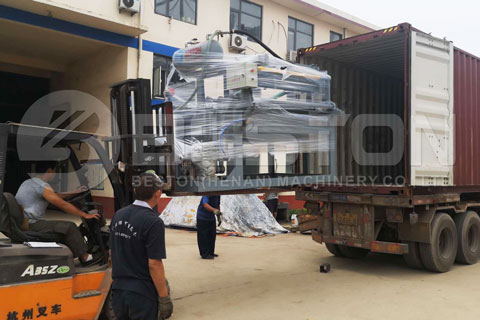 BTF-1-4 Small Egg Tray Making Machine Delivered to Colombia