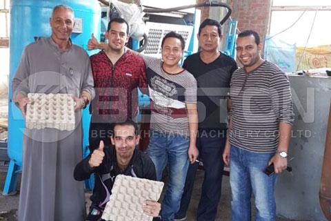 Beston Pulp Forming Machine Installed in Egypt