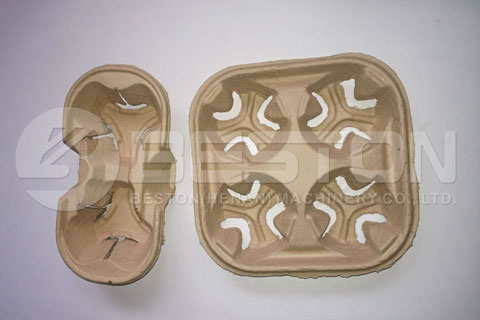 Cup Tray Made by Pulp Moulding Plant
