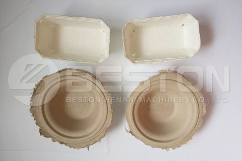 Food Tray Made by Paper Pulp Molding Equipment