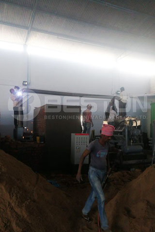 Installation of BTF-4-4 Beston Egg Tray Plant in India