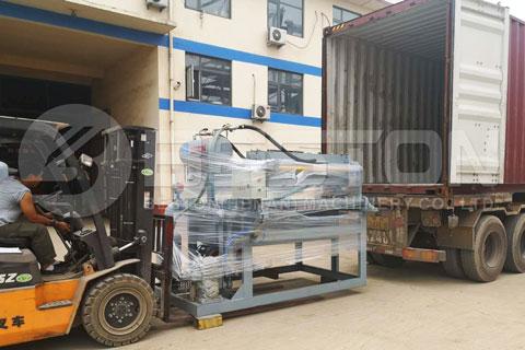 Shipment of BTF-1-4 Small Egg Tray Machine