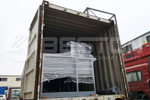 Small Egg Tray Machine Delivered to Ghana
