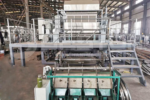BTF-4-8 Automatic Egg Tray Equipment with Metal Drying System