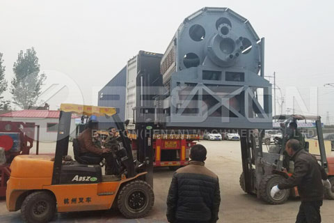 Delivery of Automatic Paper Egg Tray Machine