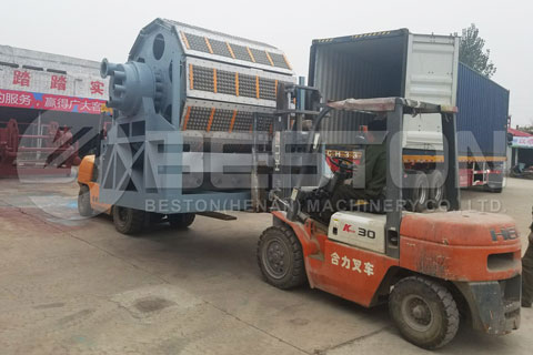 Shipment of Automatic Egg Tray Machine to Egypt